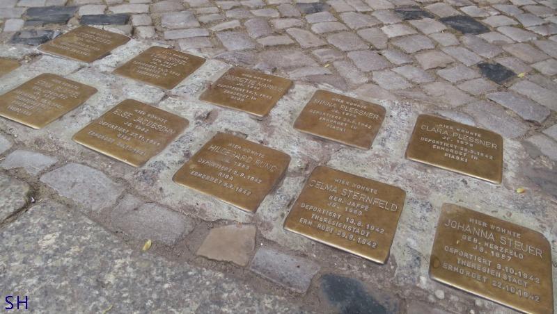 Stolpersteine Berlin Charlottenburg - Standort Hamburg