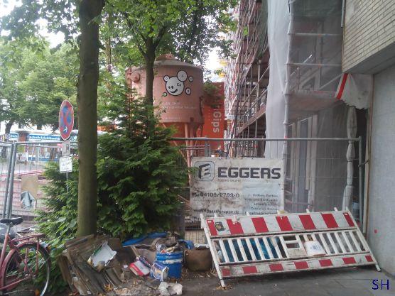 Eggers bouwt hier een Vapiano - Standort Hamburg