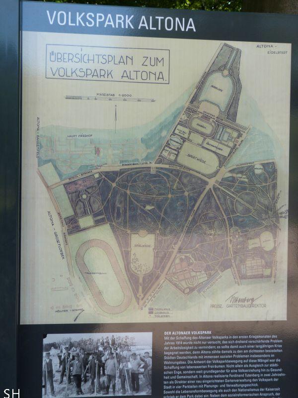 Volkspark Altona plattegrond - Standort Hamburg