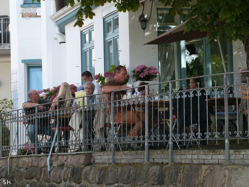 Italiaans doen op terras standort hamburg