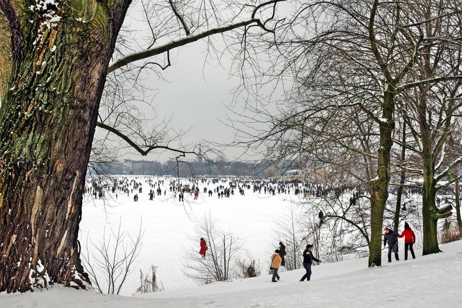 Activiteiten op en om de Alster: schaatsen!