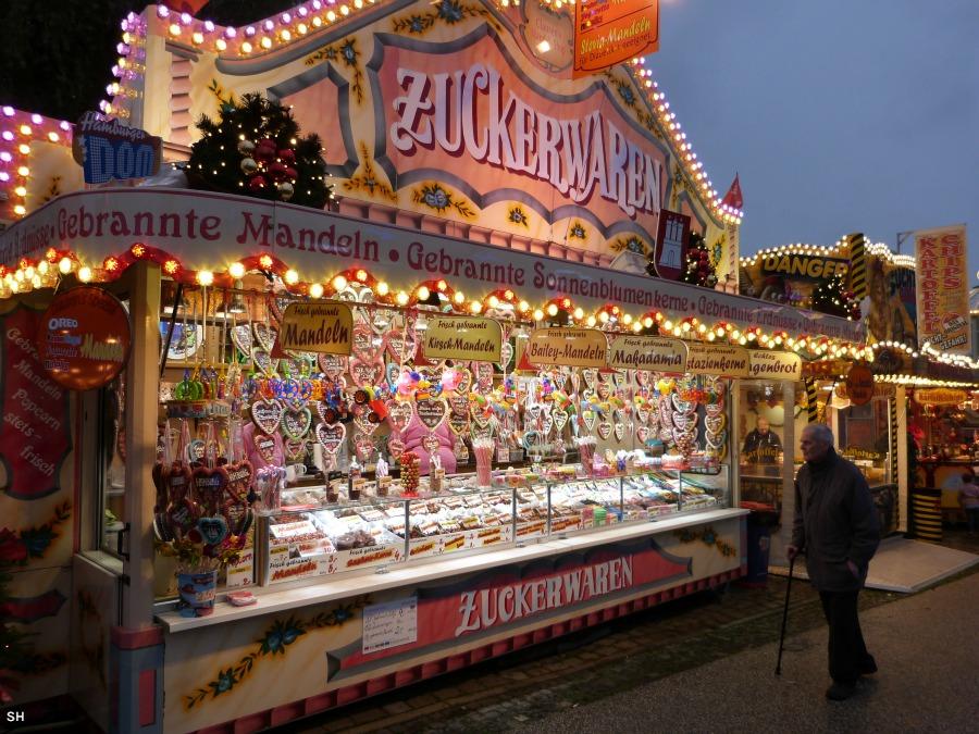 Zuckerwaren op de Winterdom - Standort Hamburg
