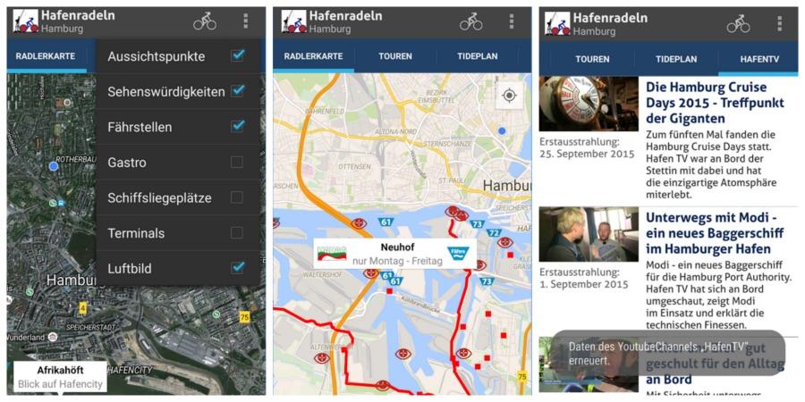 Hafenerlebnisroute app - Fietsen in Hamburg