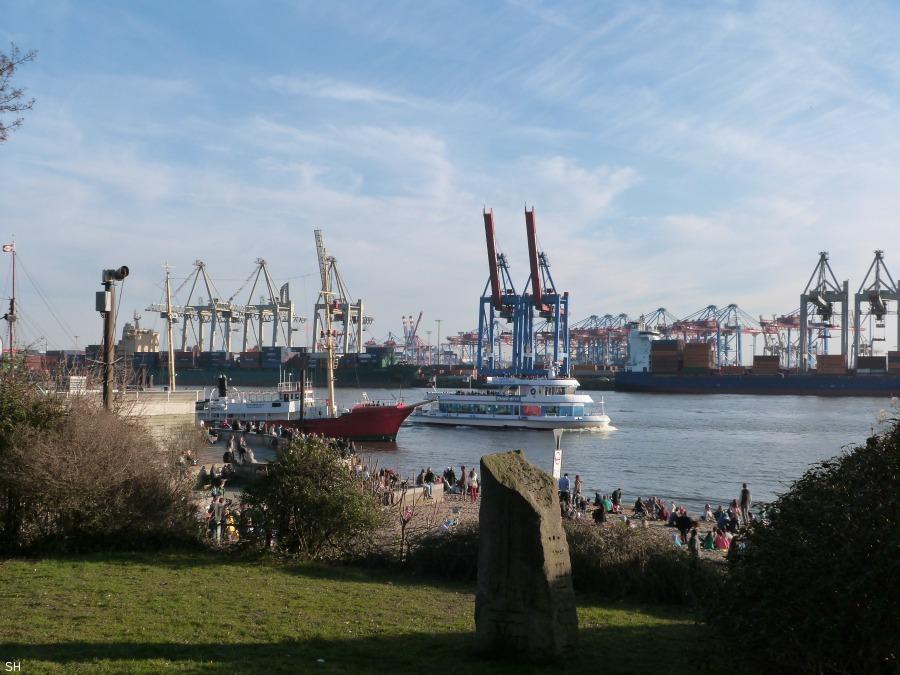 Chillen aan het Elbstrand Standort Hamburg