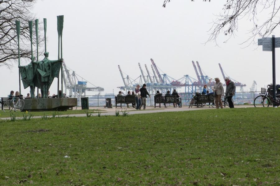 P1060094_Standort Hamburg - Hamburg in de lente - Altonaer Balkon