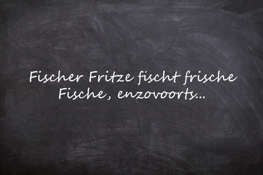 Oefenen op Duitse tongbrekers: Fischer Fritze