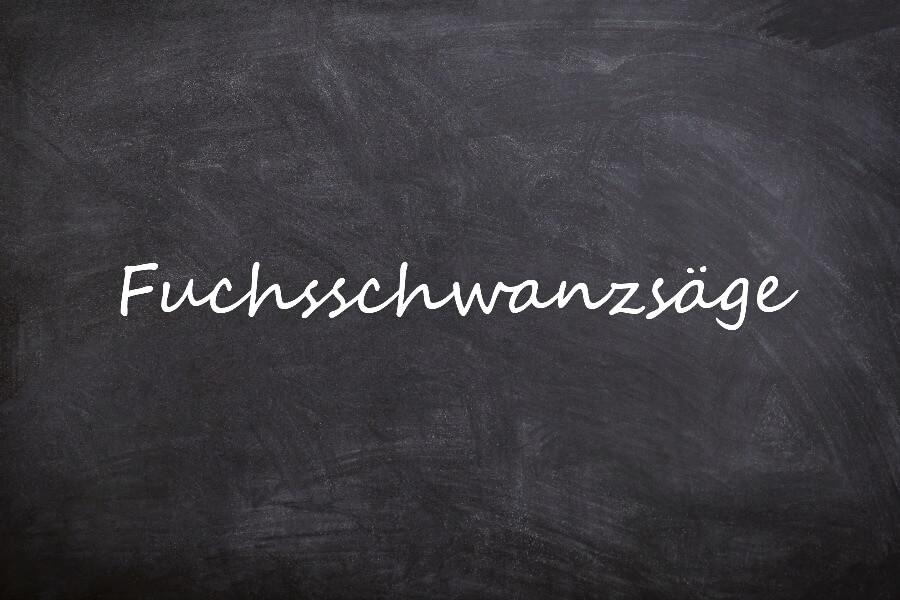Oefenen op een Duitse tongbreker: Fuchsschwanzsäge