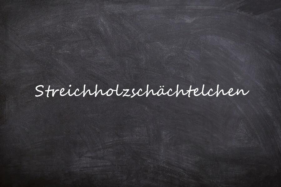Nog een tongbreker om te oefenen: Streichholzschächtelchen