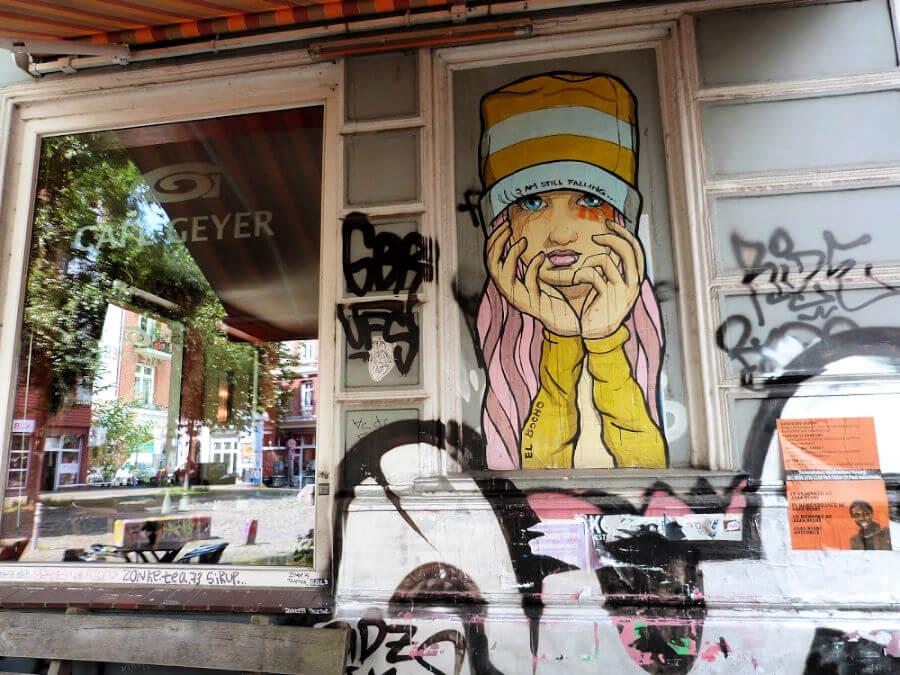 El Bocho paste ups in Hamburg