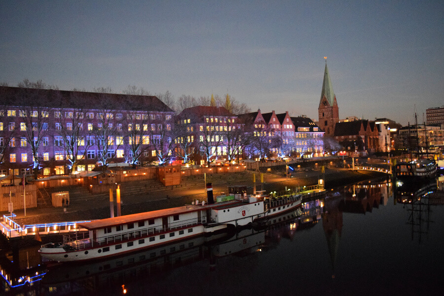 De gezelligste kerstmarkten in Noord-Duitsland: Schlachte in Bremen
