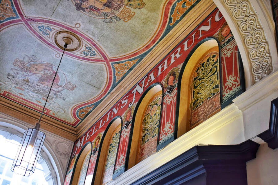 Jugendstil architectuur Hamburg: Mellin-Passage bij de Alsterarkaden