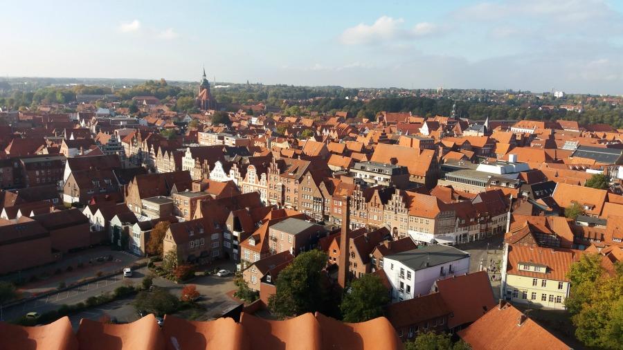 Zien in Lüneburg: de Wasserturm