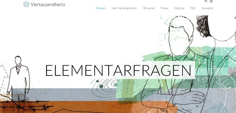 Boeiende Duitse podcasts: Elementarfragen van Viertausendhertz