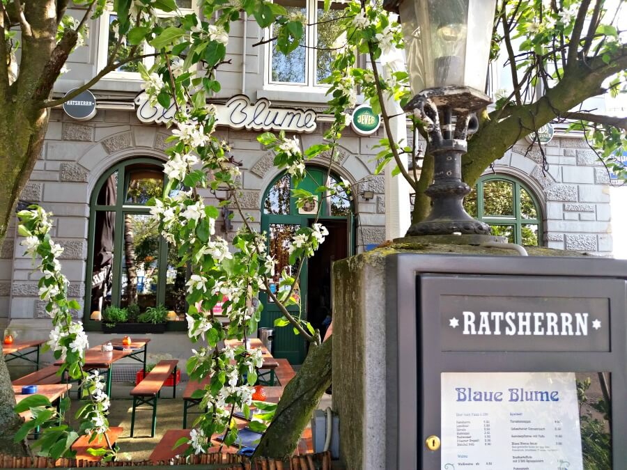 Biergarten Hamburg: Blaue Blume