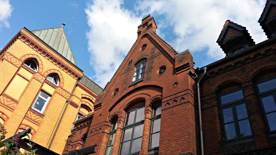 Baksteenarchitectuur in Hamburg: Bilrothstraße in Altona