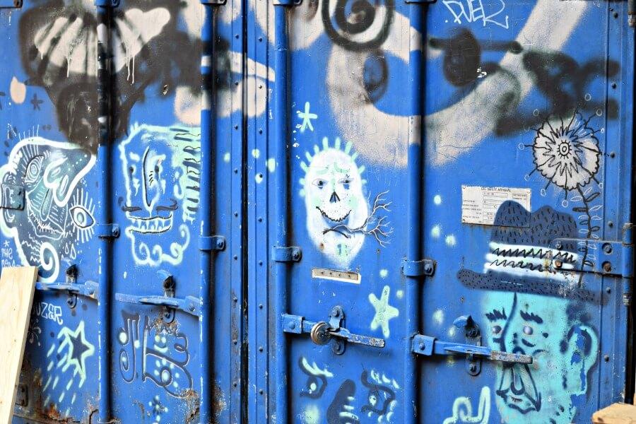 Street art tijdens het monumentenweekend in Hamburg