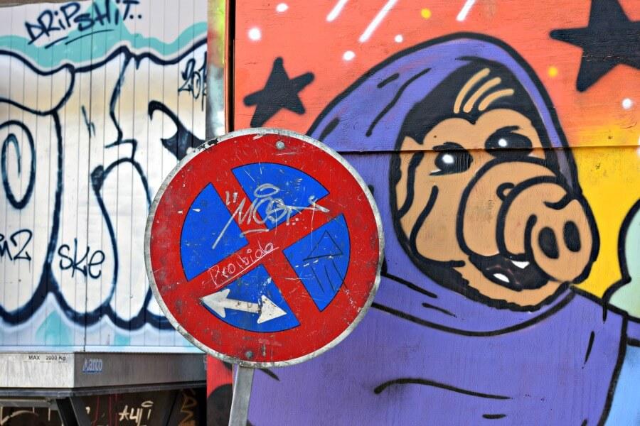 monumentenweekend in Hamburg: street art bij de Viktoria-Kaserne