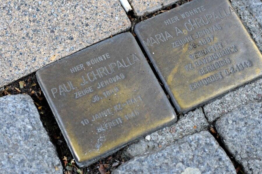 Stolpersteine in Hamburg: Maria en Paul Chrupalla, Große Bergstraße