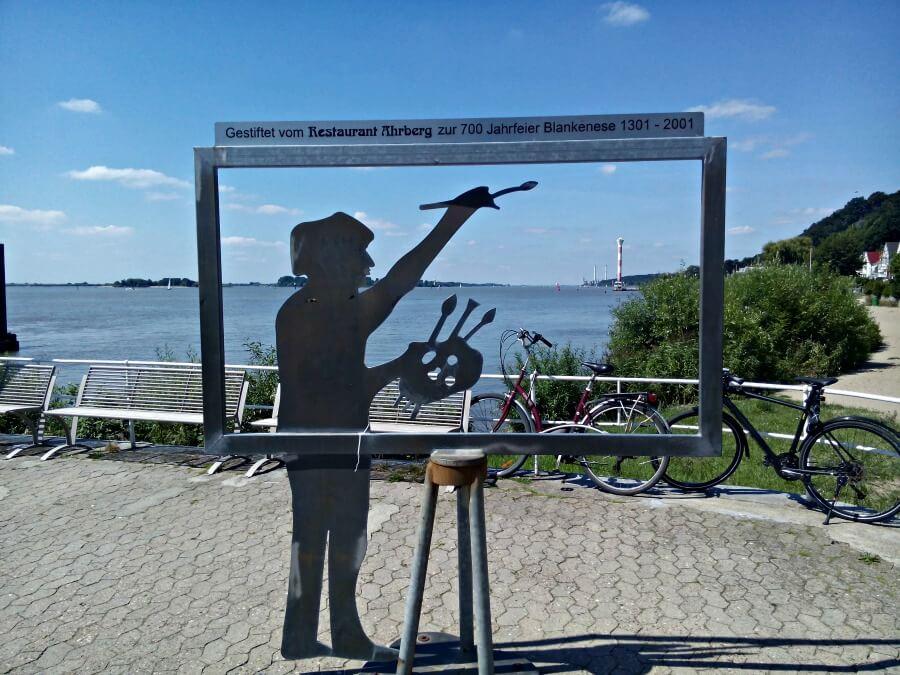 Hamburg in juli: Blankenese