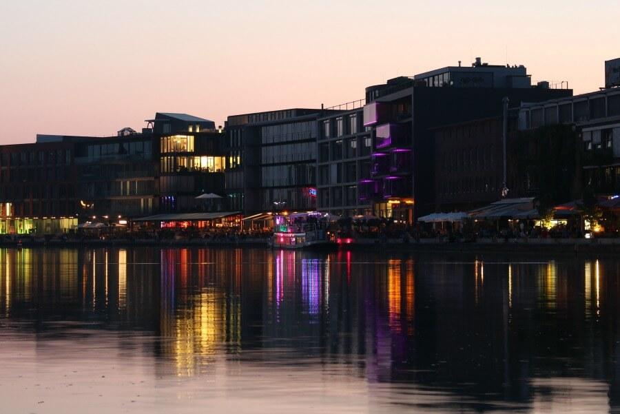 Bekijk de haven van Münster