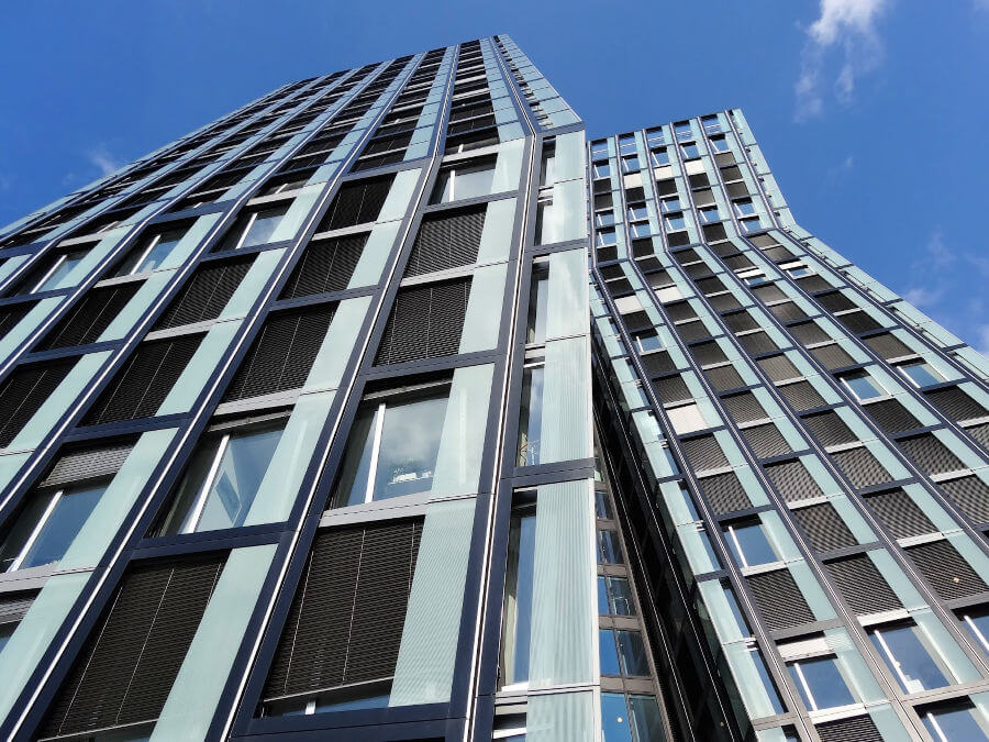 Spannende architectuur in Hamburg: de Tanzende Türme in St. Pauli