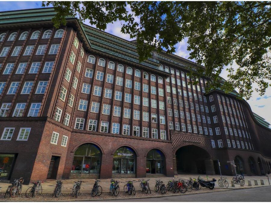 Historische architectuur in Hamburg: Chilehaus