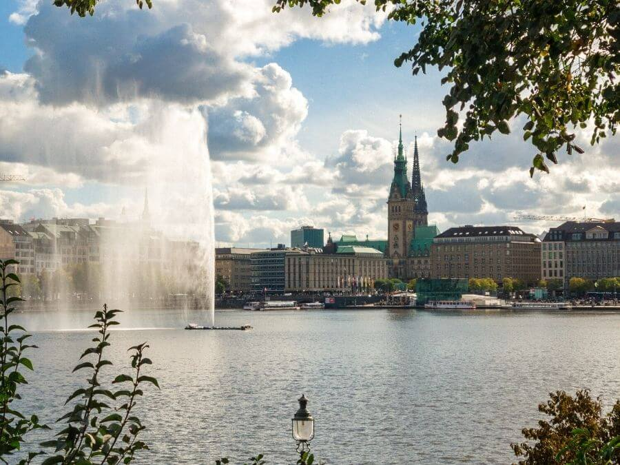 fontein aan de Binnenalster