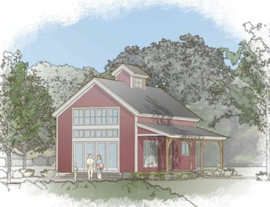 Small Barn House Plans   Soaring Spaces  small barn house plans