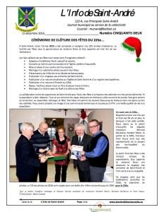 L'info de Saint-André décembre 2016