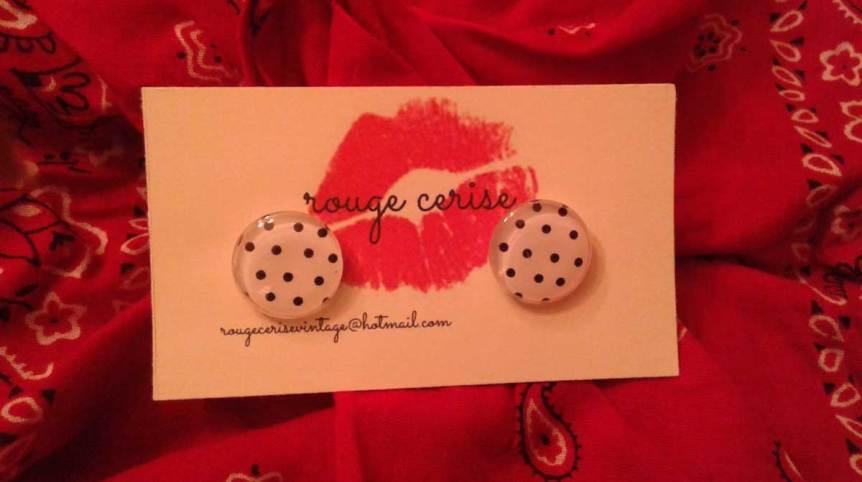 Boucles d'oreilles de Rouge Cerise