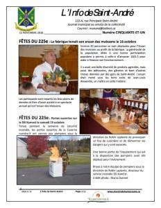 L'info de Saint-André novembre 2016