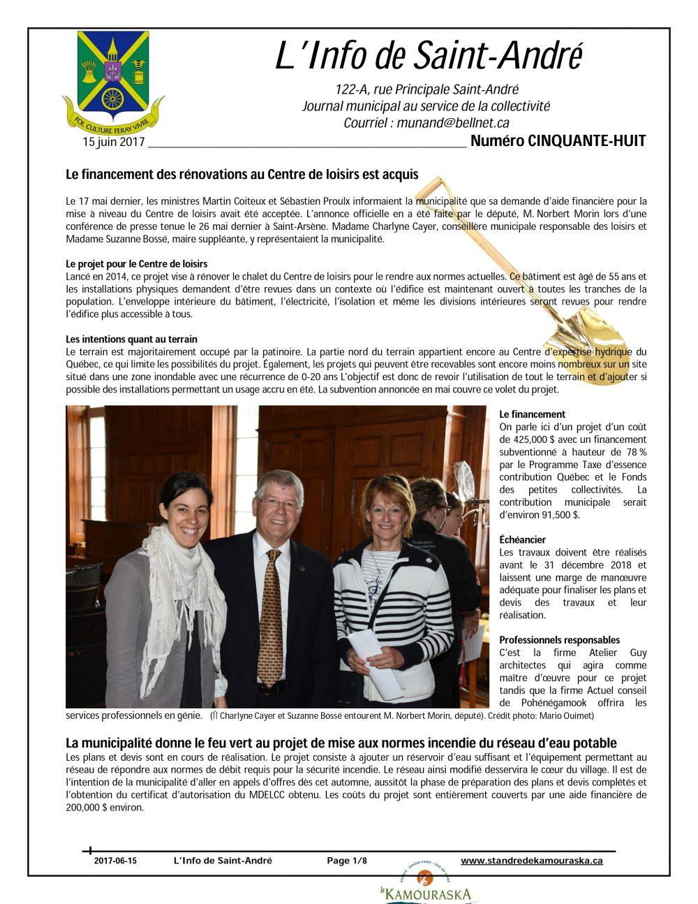 L'Info de St-André juin 2017