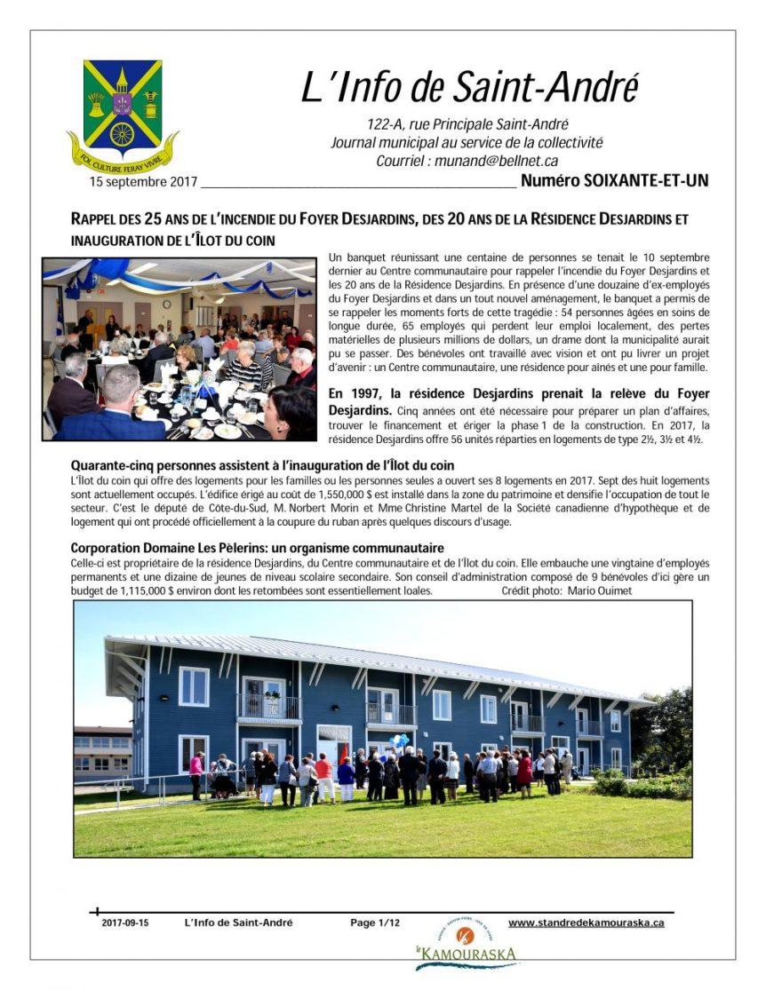 L'info de St-André -Septembre 2017