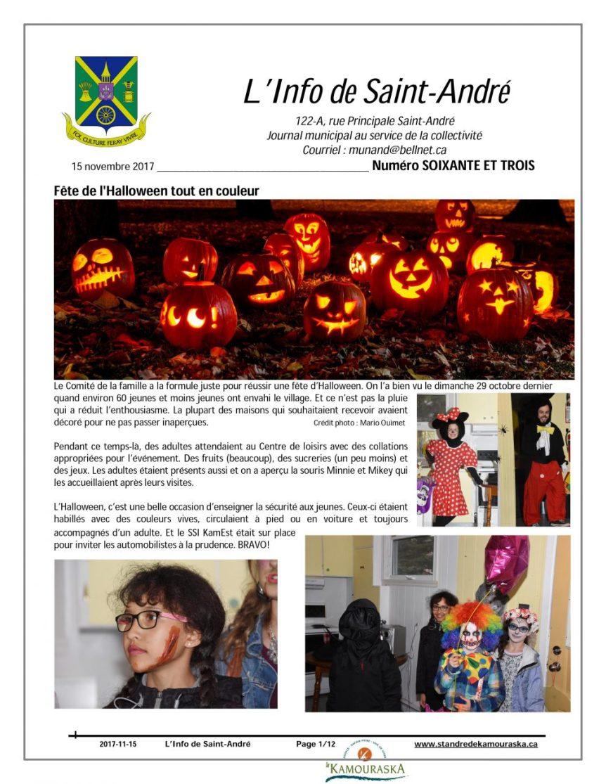 Info de Saint-André de novembre