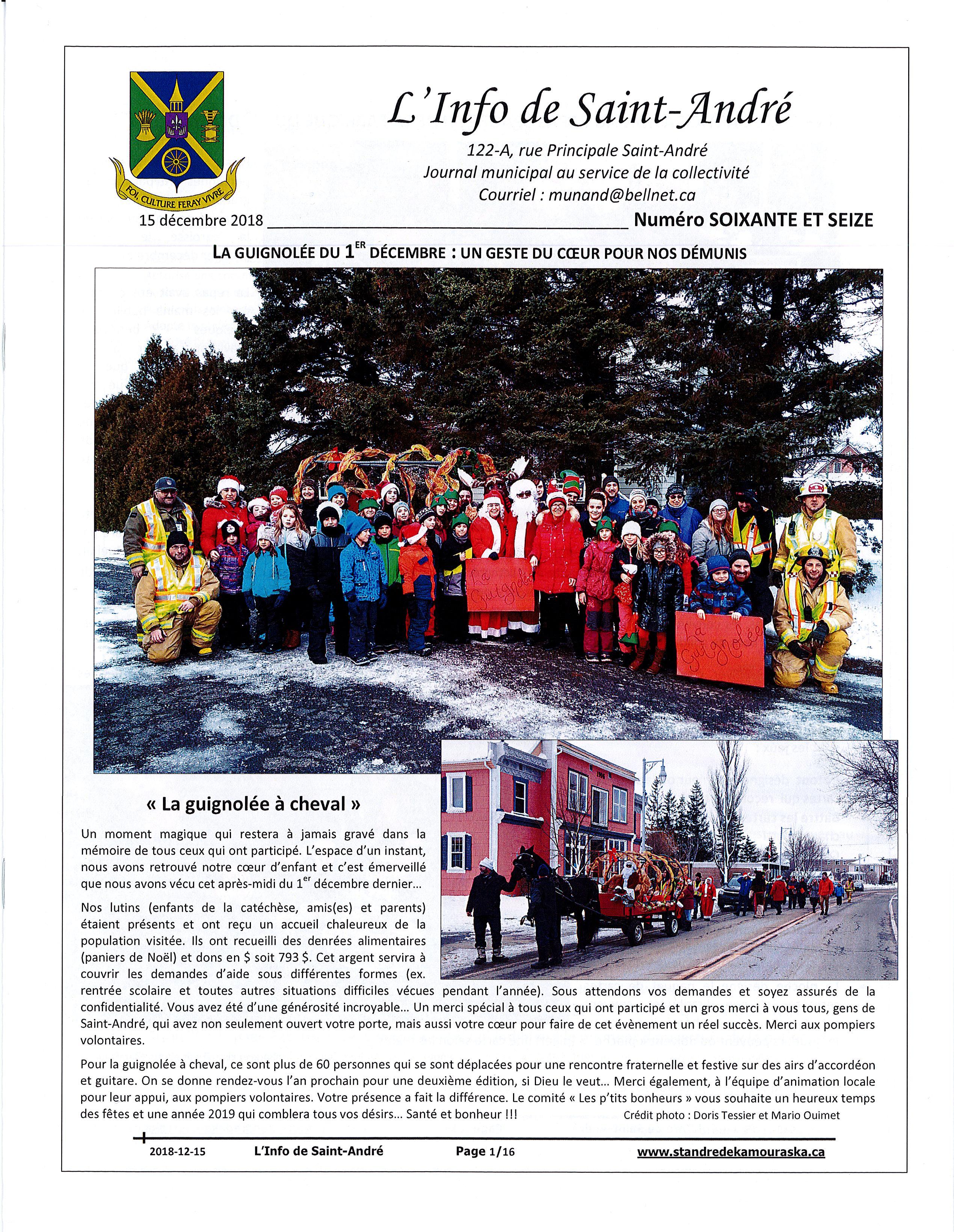 L'info de Saint-André décembre 2018