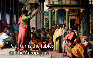 Paul  speaks before the Areopagus in Athens