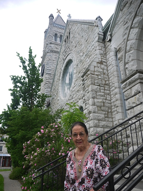 Pauline Brown of Jobat India after addressing the Presbytery of Kingston