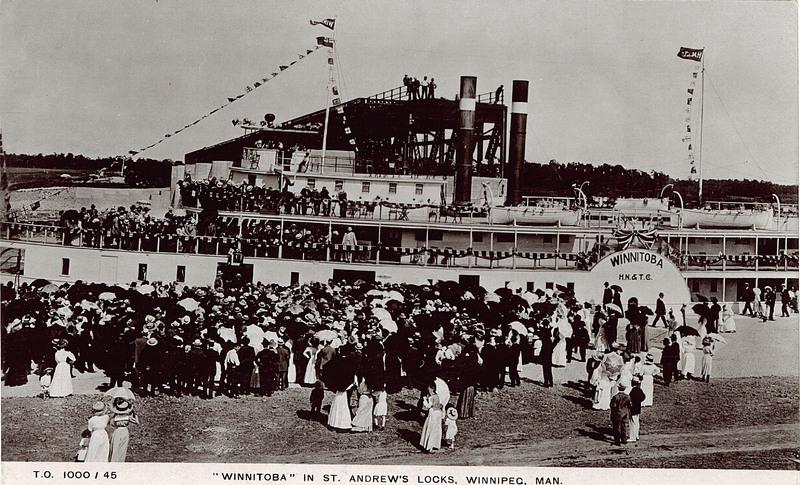 S.S Winnitoba at St. ANdrews Locks, 1910