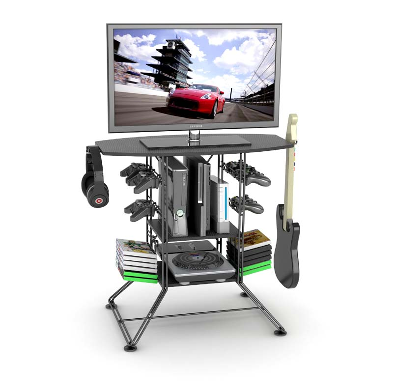 Atlantic Centipede Video Game TV Stand With Gaming Storage