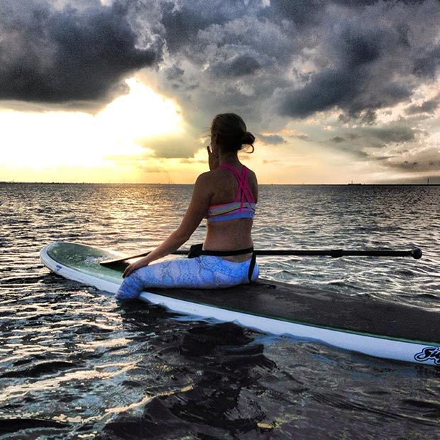 Daria Collins: SUP Sistah - SUPin' it up yoga style at Hermosa Beach, Costa Rica