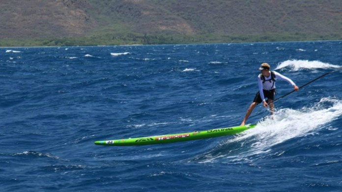 Connor Baxter Starboard Ultimate Waterman race banner