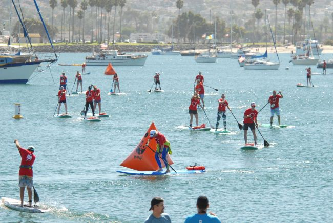 Panda Paddle sup race event