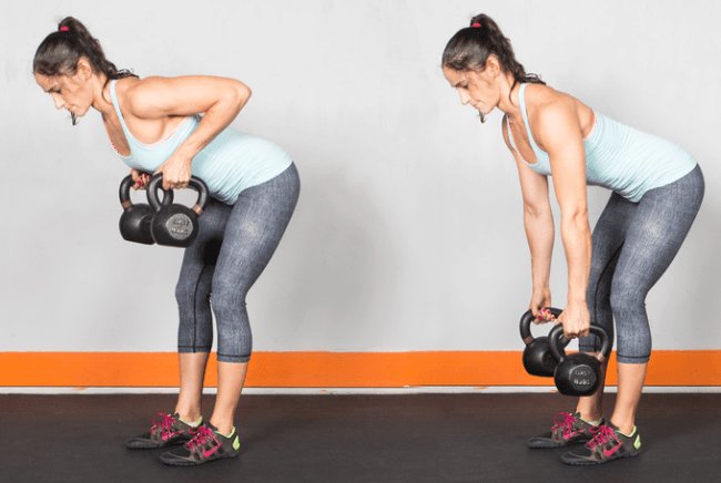 Kettlebell rows paddle strength