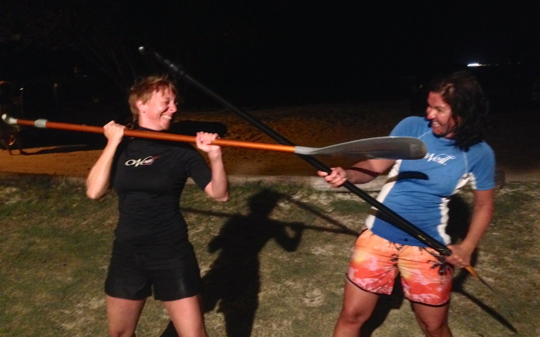 Two German Doctors go Stand Up Paddling at night!