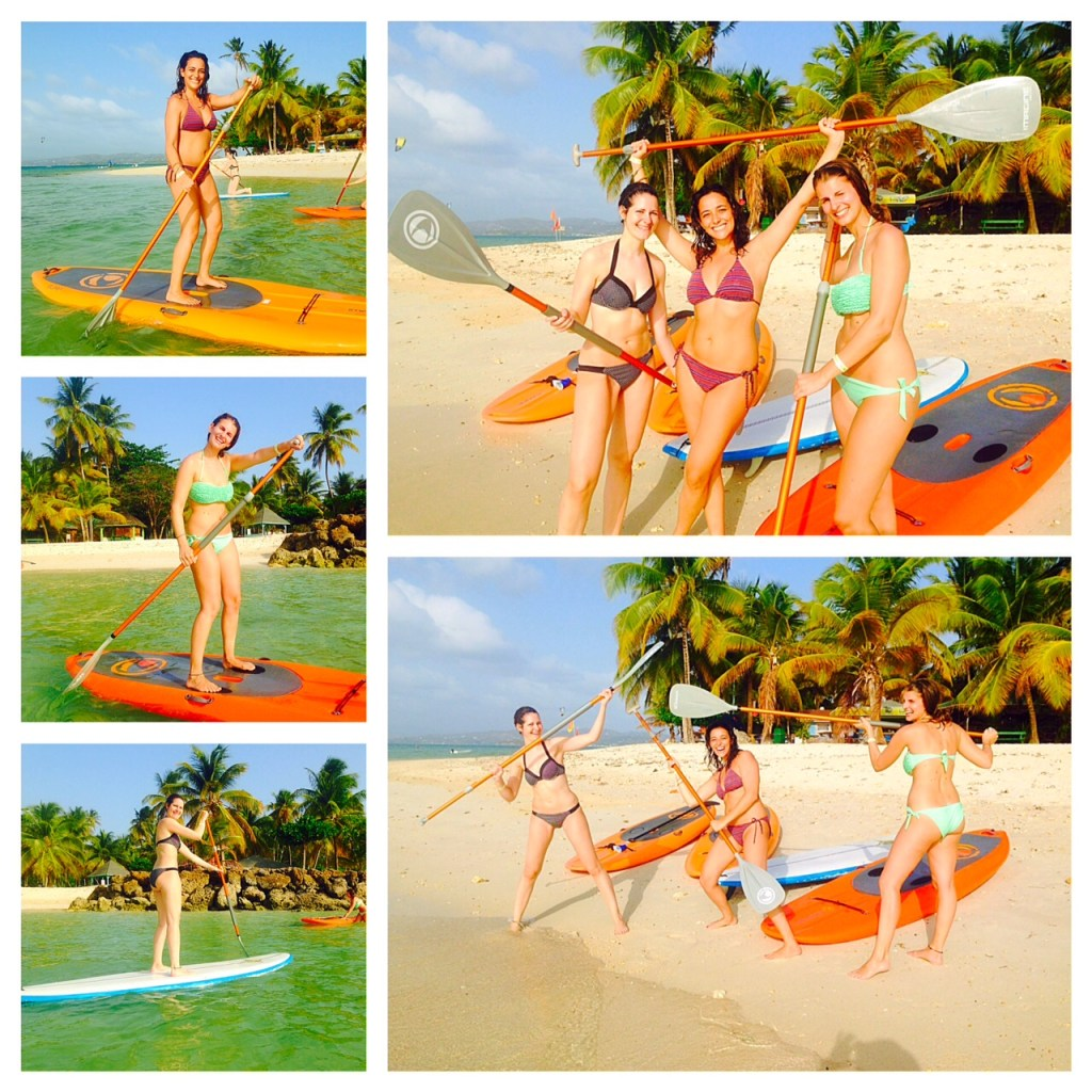Learn to stand up paddle with your best friends