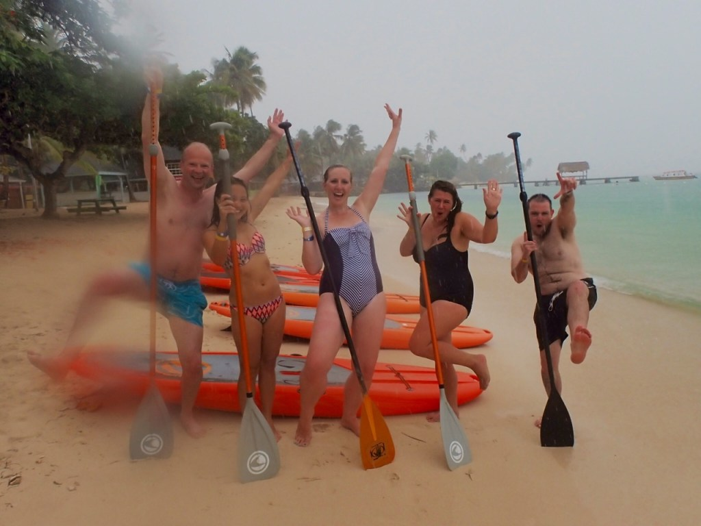 Stand Up Paddle in the rain