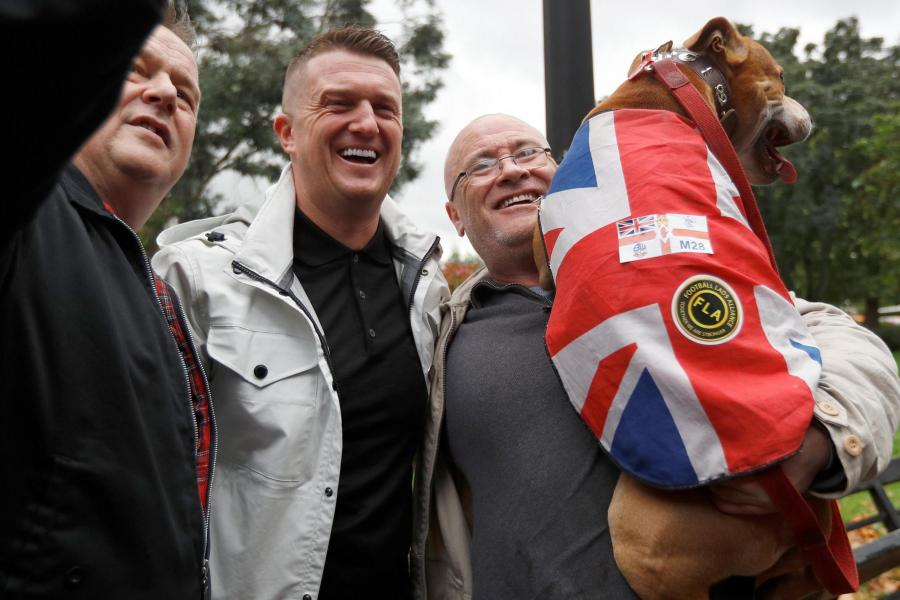 Image result for Tommy Robinson and the DFLA images