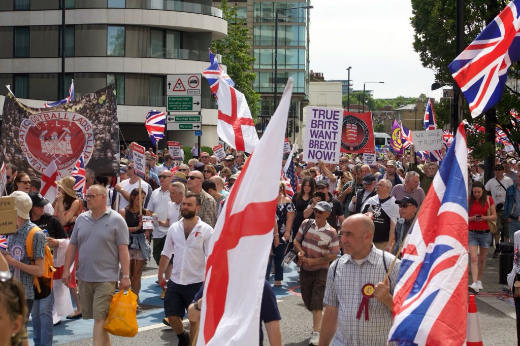 Image result for far right unity demo 24nd June 2018