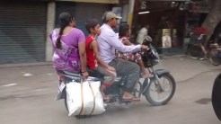 All Family on the motorcycle near the Charminar