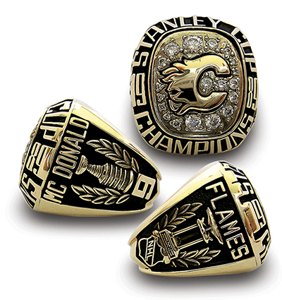 Calgary 1989 Stanley Cup playoffs ring - Combo A